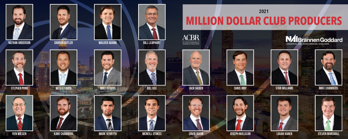 2021 Million Dollar Club Top Producers